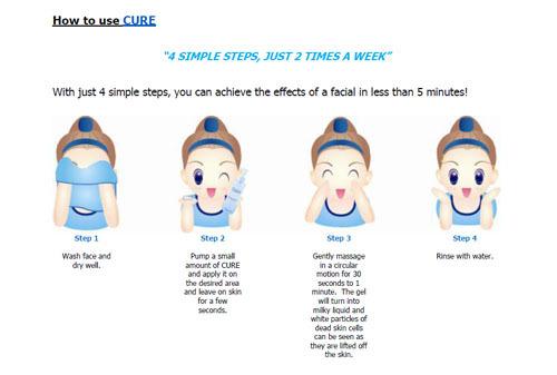 Cách dùng Tẩy tế bào chết Cure hiệu quả nhất